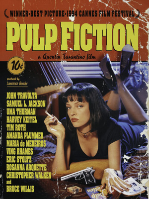 Постер (плакат) Pulp Fiction | Криминальное Чтиво