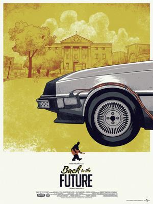 Постер (плакат) Back to the Future Collection (Коллекция постеров) | Назад в будущее